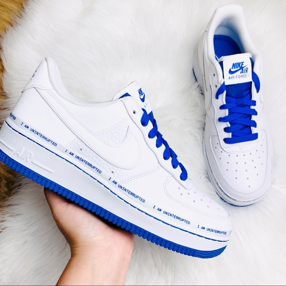 Nike Shoes Air Force 1 Low Uninterrupted White Blue Poshmark